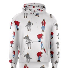 Hotline Bling White Background Men s Pullover Hoodie