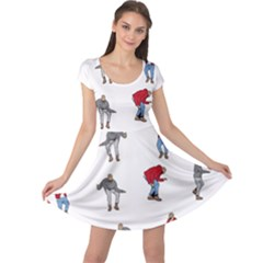 Hotline Bling White Background Cap Sleeve Dresses