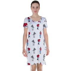 Hotline Bling White Background Short Sleeve Nightdress