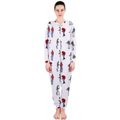 Hotline Bling White Background OnePiece Jumpsuit (Ladies)