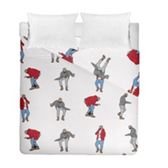 Hotline Bling White Background Duvet Cover Double Side (Full/ Double Size)
