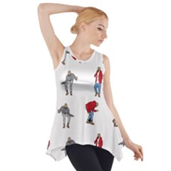 Hotline Bling White Background Side Drop Tank Tunic