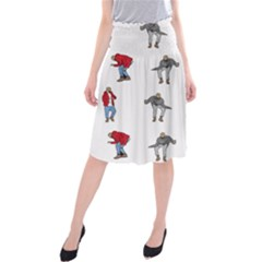 Hotline Bling White Background Midi Beach Skirt