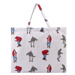 Hotline Bling White Background Zipper Large Tote Bag