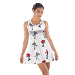 Hotline Bling White Background Cotton Racerback Dress