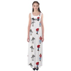 Hotline Bling White Background Empire Waist Maxi Dress