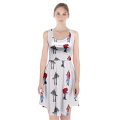 Hotline Bling White Background Racerback Midi Dress