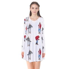 Hotline Bling White Background Flare Dress