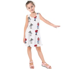 Hotline Bling White Background Kids  Sleeveless Dress