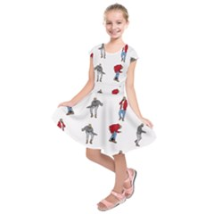 Hotline Bling White Background Kids  Short Sleeve Dress