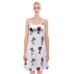 Hotline Bling White Background Spaghetti Strap Velvet Dress