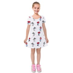 Hotline Bling White Background Kids  Short Sleeve Velvet Dress