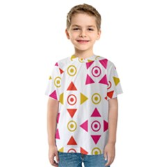 Spectrum Styles Pink Nyellow Orange Gold Kids  Sport Mesh Tee