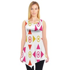 Spectrum Styles Pink Nyellow Orange Gold Sleeveless Tunic