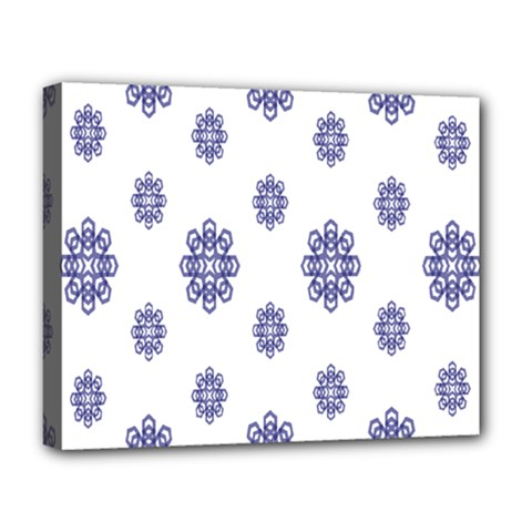 Snow Blue White Cool Deluxe Canvas 20  X 16