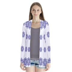 Snow Blue White Cool Cardigans