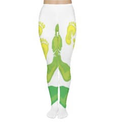 Soles Feet Green Yellow Family Women s Tights