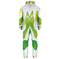 Soles Feet Green Yellow Family Hooded Jumpsuit (men)