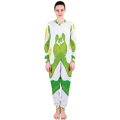 Soles Feet Green Yellow Family OnePiece Jumpsuit (Ladies)