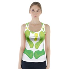 Soles Feet Green Yellow Family Racer Back Sports Top