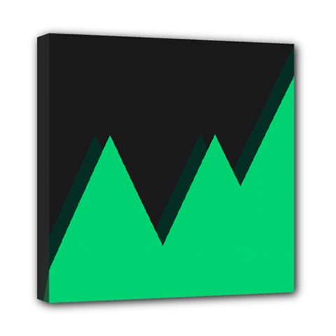 Soaring Mountains Nexus Black Green Mini Canvas 8  X 8