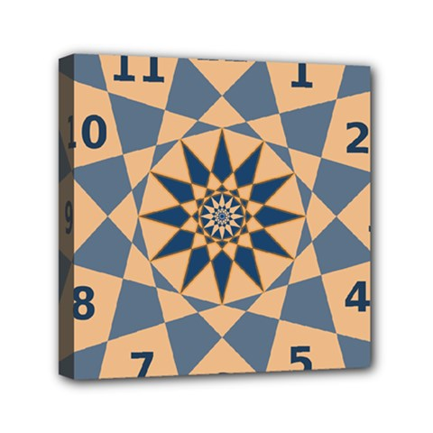 Stellated Regular Dodecagons Center Clock Face Number Star Mini Canvas 6  x 6
