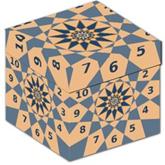 Stellated Regular Dodecagons Center Clock Face Number Star Storage Stool 12