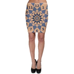 Stellated Regular Dodecagons Center Clock Face Number Star Bodycon Skirt