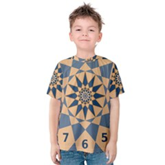 Stellated Regular Dodecagons Center Clock Face Number Star Kids  Cotton Tee