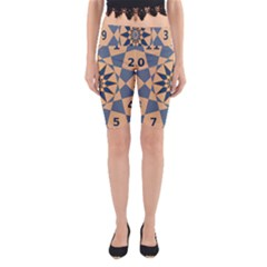Stellated Regular Dodecagons Center Clock Face Number Star Yoga Cropped Leggings