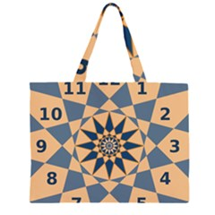Stellated Regular Dodecagons Center Clock Face Number Star Large Tote Bag
