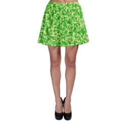 Specktre Triangle Green Skater Skirt