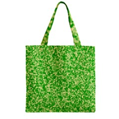 Specktre Triangle Green Zipper Grocery Tote Bag