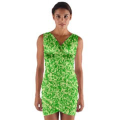 Specktre Triangle Green Wrap Front Bodycon Dress