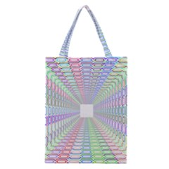 Tunnel With Bright Colors Rainbow Plaid Love Heart Triangle Classic Tote Bag