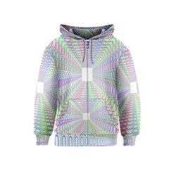 Tunnel With Bright Colors Rainbow Plaid Love Heart Triangle Kids  Zipper Hoodie