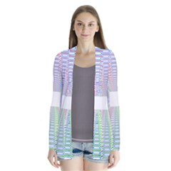 Tunnel With Bright Colors Rainbow Plaid Love Heart Triangle Cardigans