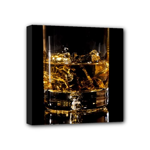Drink Good Whiskey Mini Canvas 4  x 4