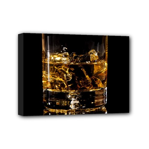Drink Good Whiskey Mini Canvas 7  x 5