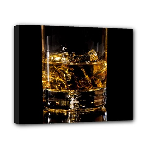 Drink Good Whiskey Canvas 10  x 8