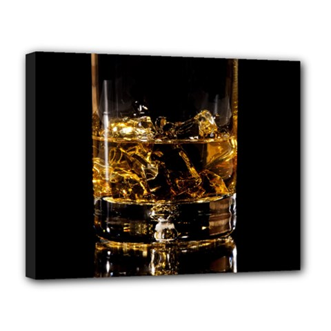 Drink Good Whiskey Canvas 14  x 11