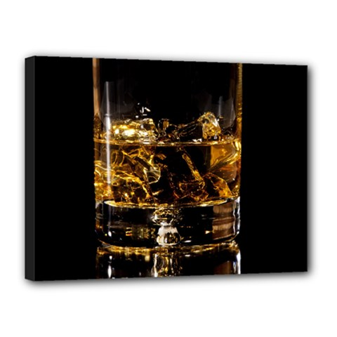 Drink Good Whiskey Canvas 16  x 12
