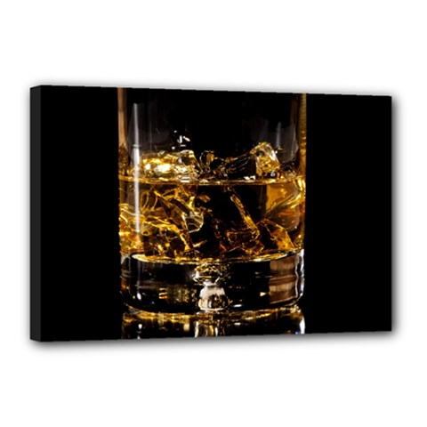 Drink Good Whiskey Canvas 18  x 12