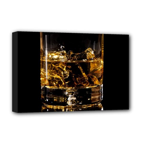 Drink Good Whiskey Deluxe Canvas 18  x 12