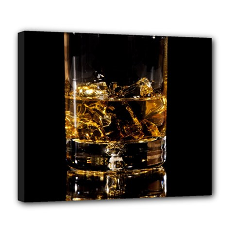 Drink Good Whiskey Deluxe Canvas 24  x 20