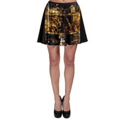 Drink Good Whiskey Skater Skirt