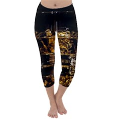 Drink Good Whiskey Capri Winter Leggings