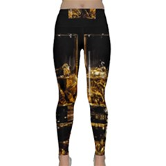 Drink Good Whiskey Classic Yoga Leggings