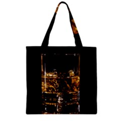 Drink Good Whiskey Zipper Grocery Tote Bag
