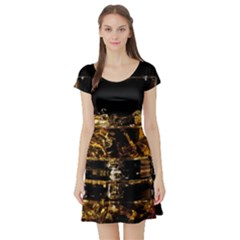 Drink Good Whiskey Short Sleeve Skater Dress